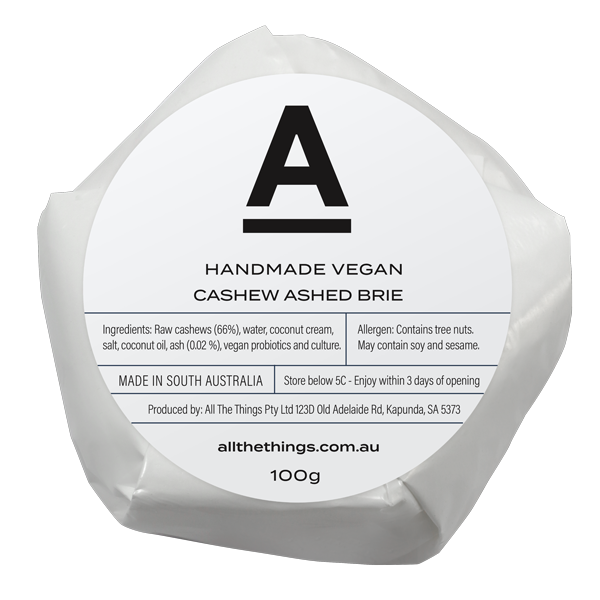 All the Things Ashed Vegan Cashew Brie